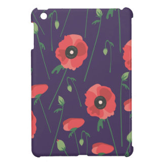 Blooming Springtime Poppies Purple iPad Mini Cases