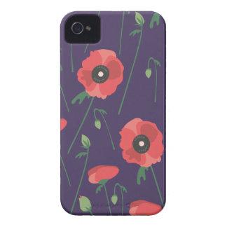 Blooming Springtime Poppies Purple iPhone 4 Case