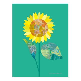 Blooming Sunflowers Postcard