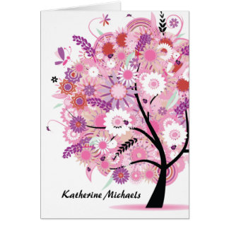 Blooming Tree Notecard Note Card