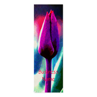 Blooming Tulip Impressionist Bkmk Business Cards