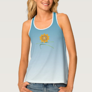 blooming warrior II tank top __ sky blue