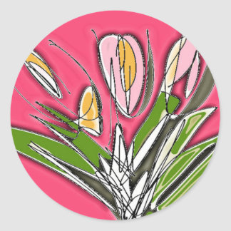Blooms Classic Round Sticker