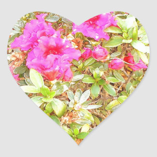 Blooms Heart Stickers