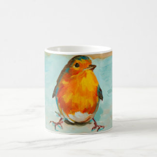 BloOrp! The English Red Robin on Blue Background Coffee Mug