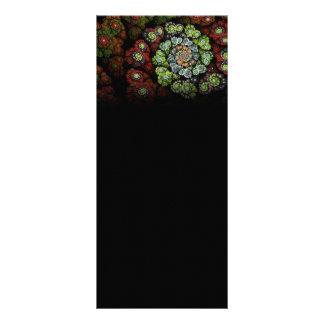 Blossom Abstract Fractal Art Customized Rack Card