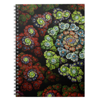 Blossom Abstract Fractal Art Note Book