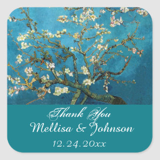 Blossom Almond Tree thank you stickers