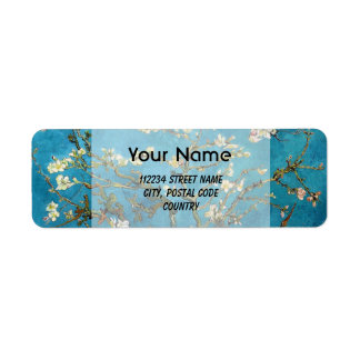 Blossom Almond Tree,  Vincent van Gogh. Return Address Label