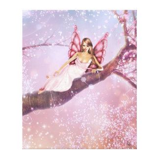 Blossom Fairy Stretched Canvas Print