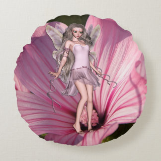 Blossom Fairy Round Cushion