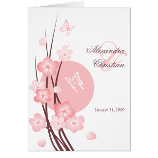 Blossom Flowers Butterflies Wedding Invitation