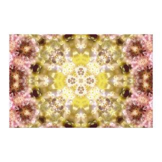 Blossom Glow Mandala IV Stretched Canvas Print