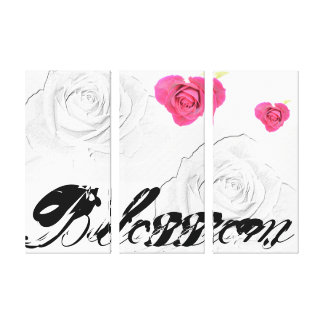 Blossom Heart Roses Art Canvas Prints
