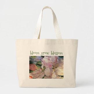 Blossom Inspiration Floral Art Jumbo Tote