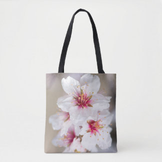 Blossom of the almond tree tote bag