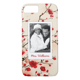 Blossom Oriental Style Painting | Add Photo iPhone 8/7 Case
