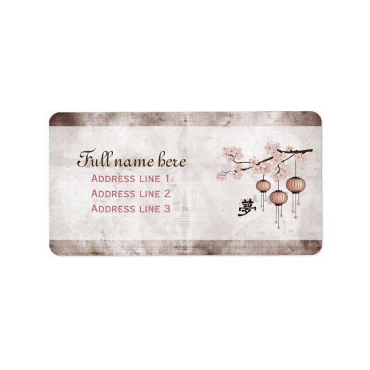 "Blossom pink lanterns ""Dream"" Label"