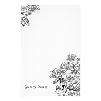Blossom Skull Stationery