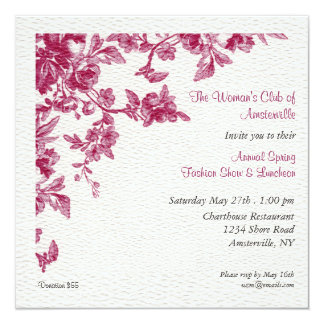 Blossom Square Luncheon Invitation