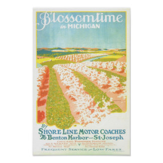 Blossom Time in Michigan Poster
