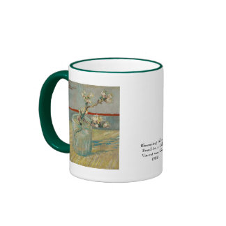 Blossoming Almond Branch by Vincent van Gogh Ringer Coffee Mug