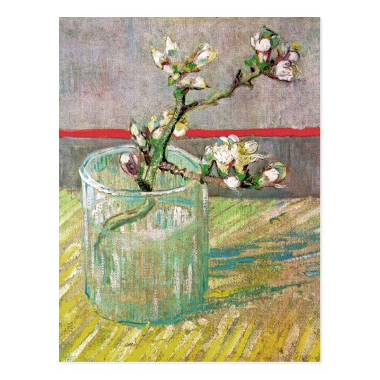 Blossoming Almond Branch by Vincent van Gogh Postcard