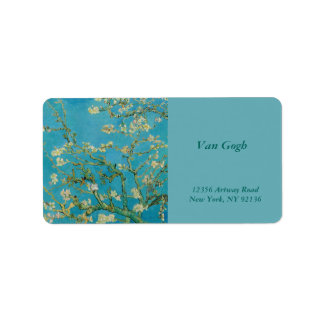Blossoming Almond Tree by Van Gogh Label