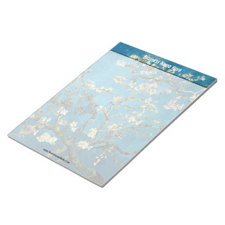 Blossoming Almond Tree by Vincent van Gogh Memo Pad