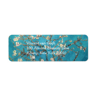 Blossoming Almond Tree by Vincent van Gogh Return Address Label