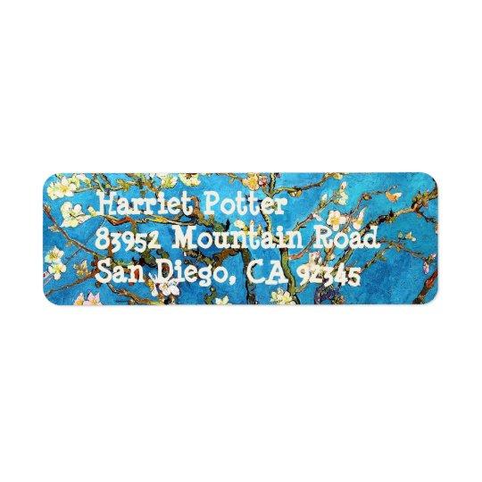 Blossoming Almond Tree Van Gogh Fine Art Return Address Label