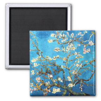 Blossoming Almond Tree Van Gogh Fine Art Square Magnet