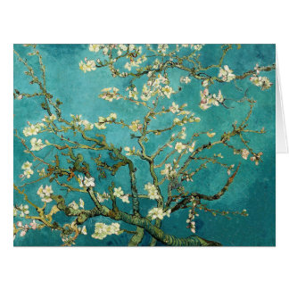 Blossoming Almond Tree Vintage Floral Van Gogh Card