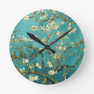 Blossoming Almond Tree Vintage Floral Van Gogh Wallclocks