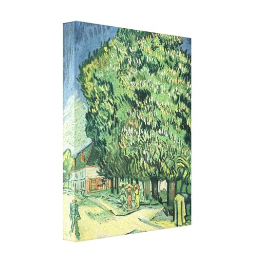 Blossoming chestnut tree by Vincent van Gogh Canvas Prints