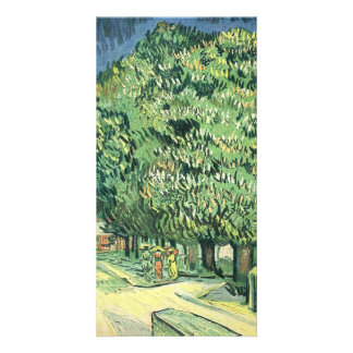 Blossoming chestnut tree by Vincent van Gogh Personalized Photo Card