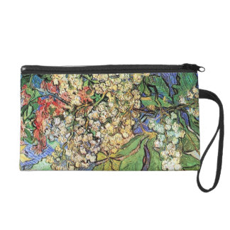 Blossoming Chestnuts Branches, Van Gogh Wristlet Purse