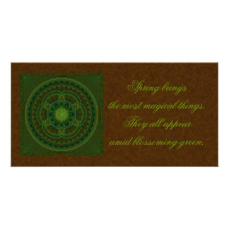 Blossoming Green Wish Card Picture Card