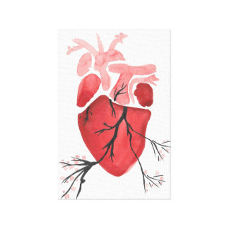 Blossoming Heart Canvas Print
