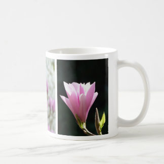 Blossoming Pink Magnolias spring flower coffee mug