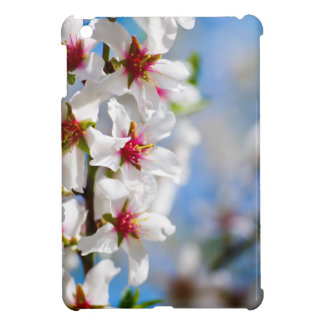 Blossoming tree branch with white flowers iPad mini case