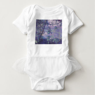 Blossoms Abstract Violet Baby Bodysuit