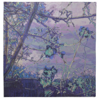 Blossoms Abstract Violet Napkin