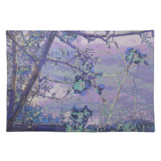 Blossoms Abstract Violet Placemat