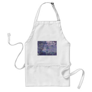Blossoms Abstract Violet Standard Apron