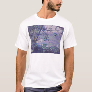 Blossoms Abstract Violet T-Shirt