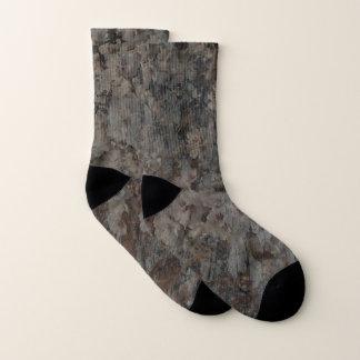 Blossoms and Bark Socks 1