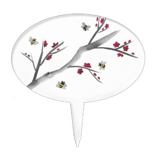 Blossoms and Bees Cake Topper