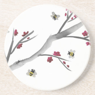 Blossoms and Bees Coaster