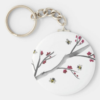 Blossoms and Bees Key Ring